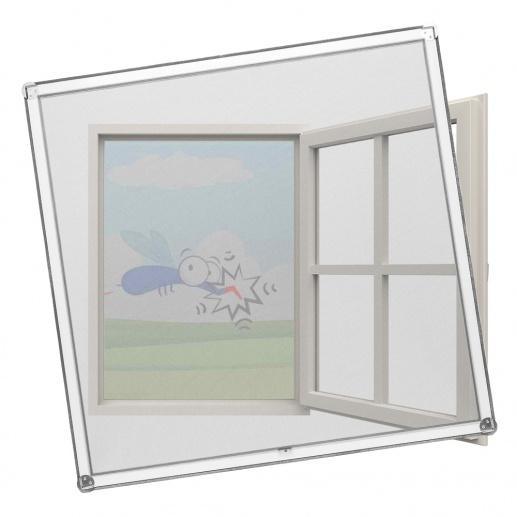 MückeNIX Fliegengitterrahmen für Kunststofffenster
